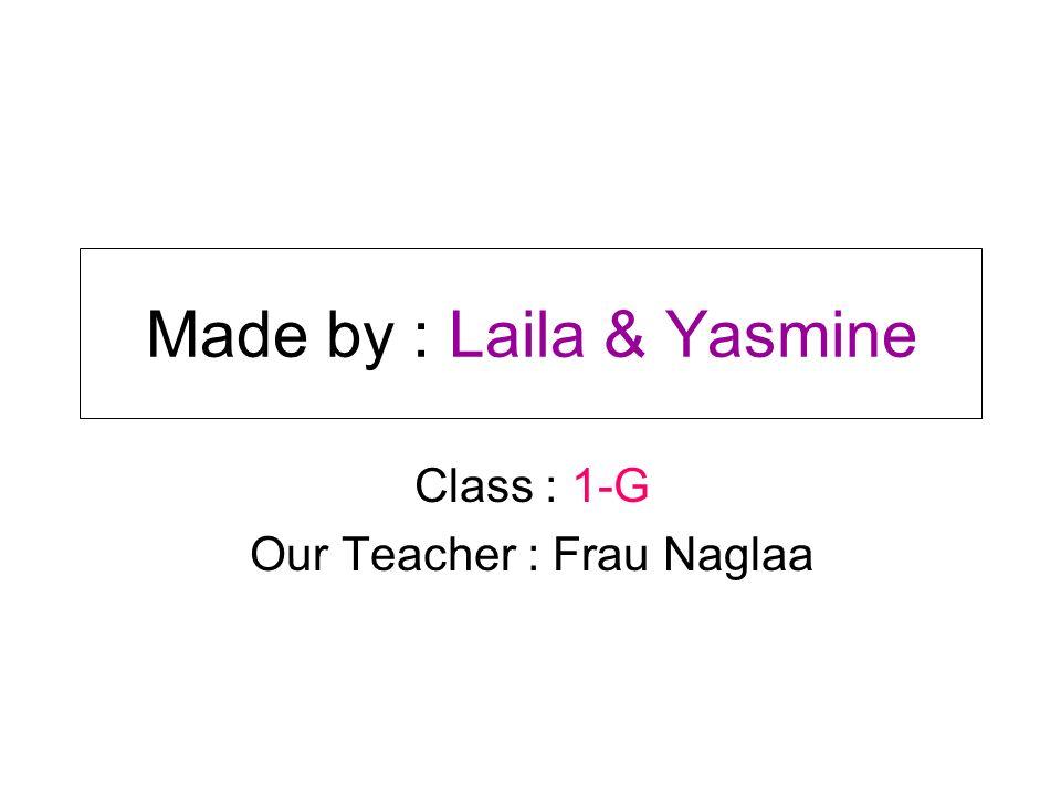 Made by : Laila & Yasmine