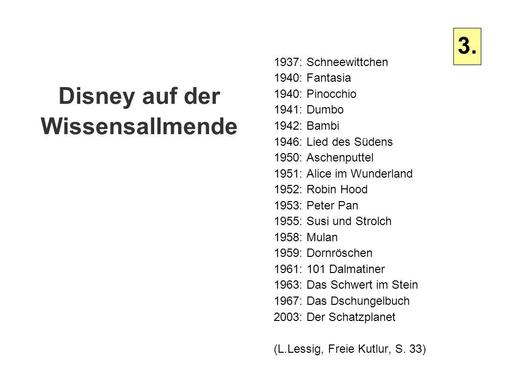 Disney auf der Wissensallmende