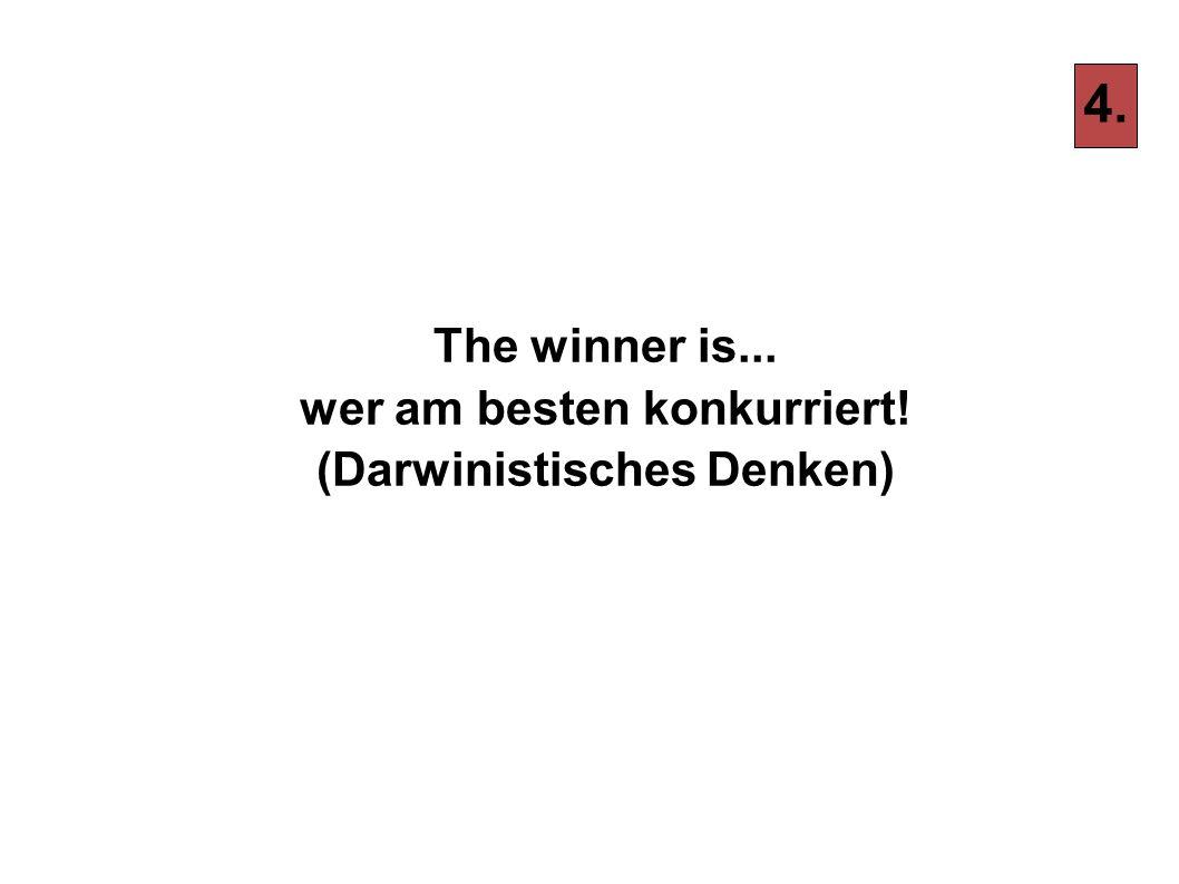 The winner is... wer am besten konkurriert! (Darwinistisches Denken)