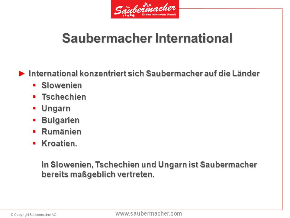 Saubermacher International