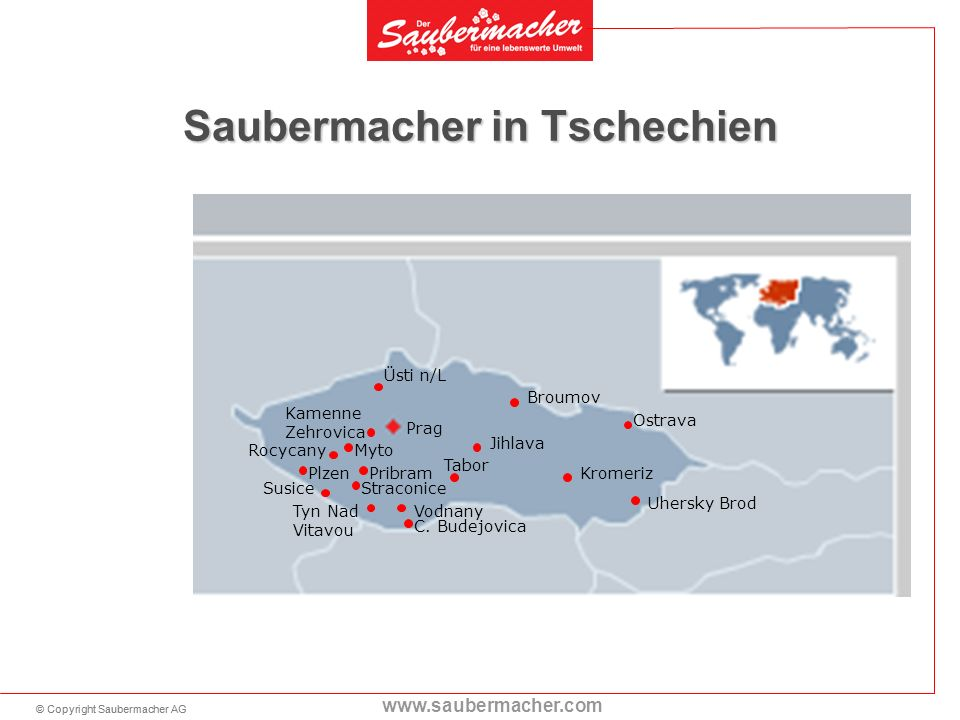 Saubermacher in Tschechien