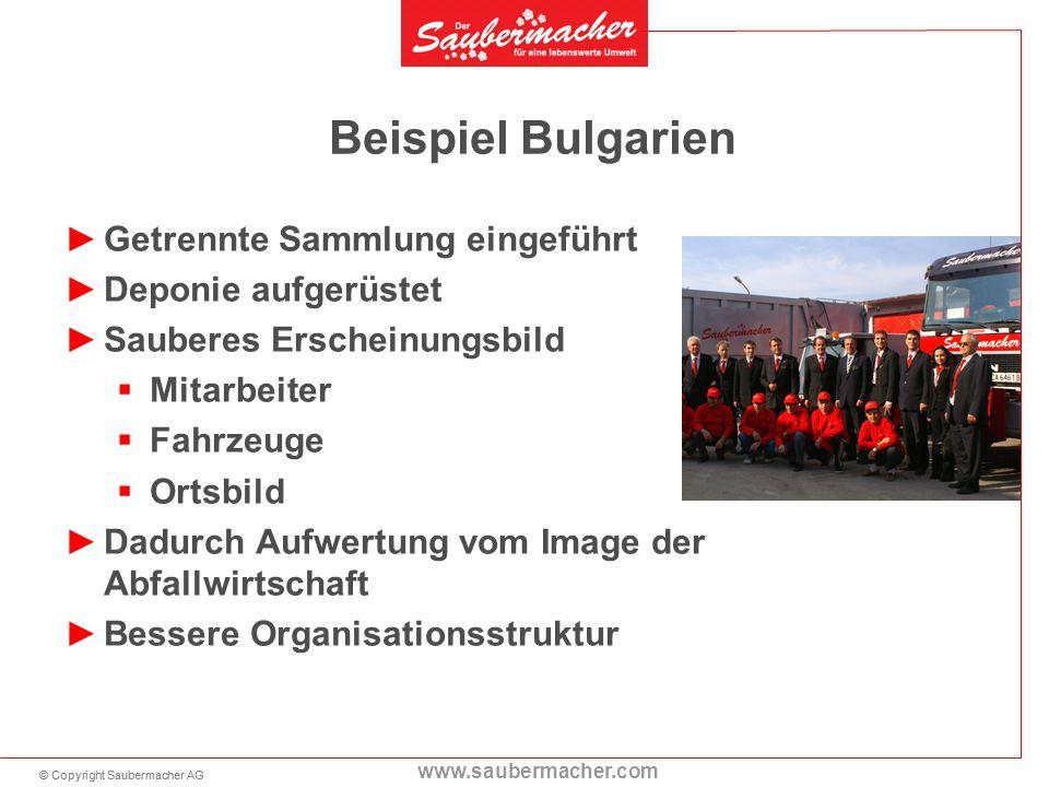 Beispiel Bulgarien Getrennte Sammlung eingeführt Deponie aufgerüstet