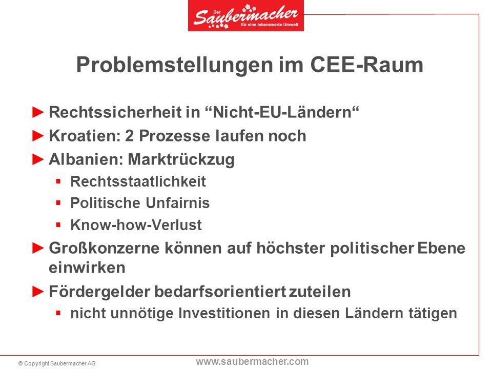 Problemstellungen im CEE-Raum