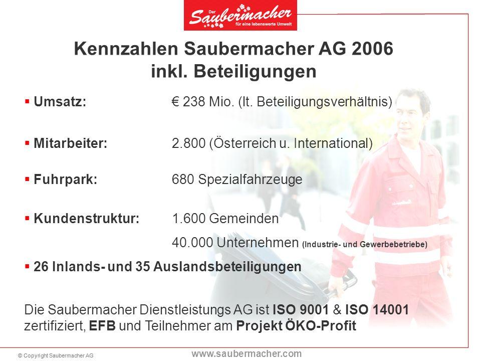 Kennzahlen Saubermacher AG 2006