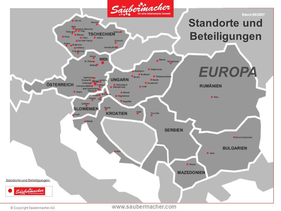 EUROPA Standorte und Beteiligungen Standorte und Beteiligungen: