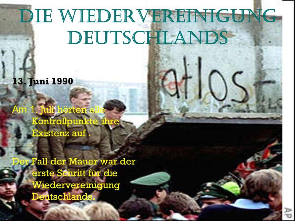 Die Wiedervereinigung Deutschlands