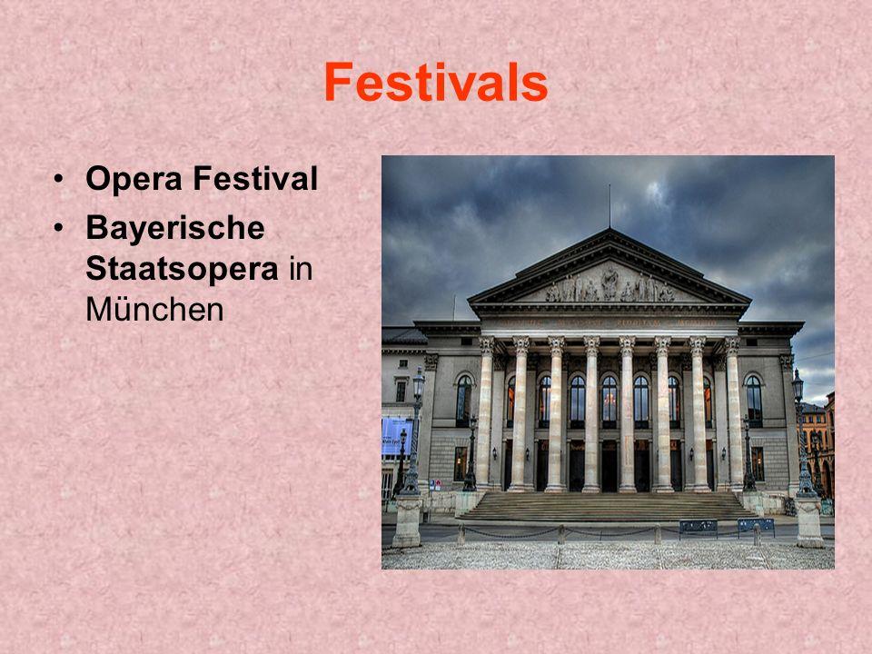 Festivals Opera Festival Bayerische Staatsopera in München