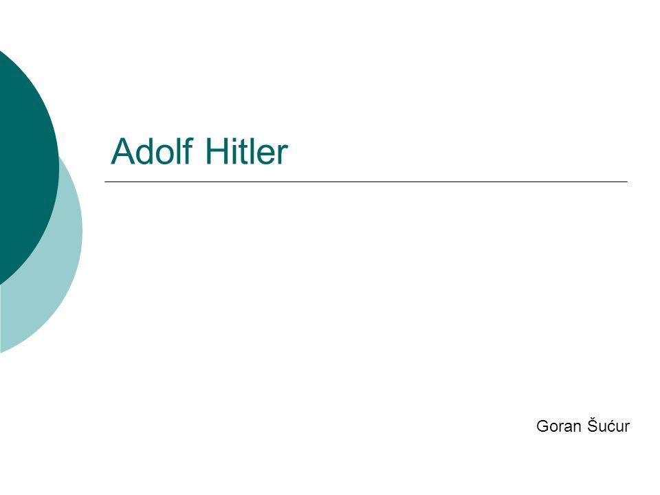 Adolf Hitler Goran Šućur