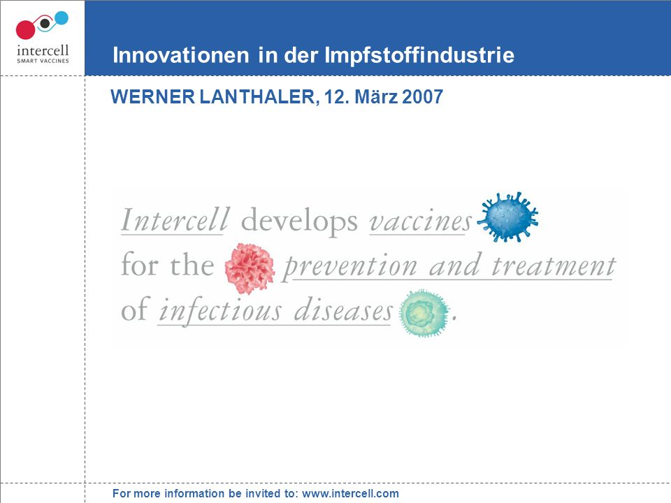 Innovationen in der Impfstoffindustrie