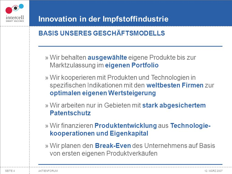 Innovation in der Impfstoffindustrie