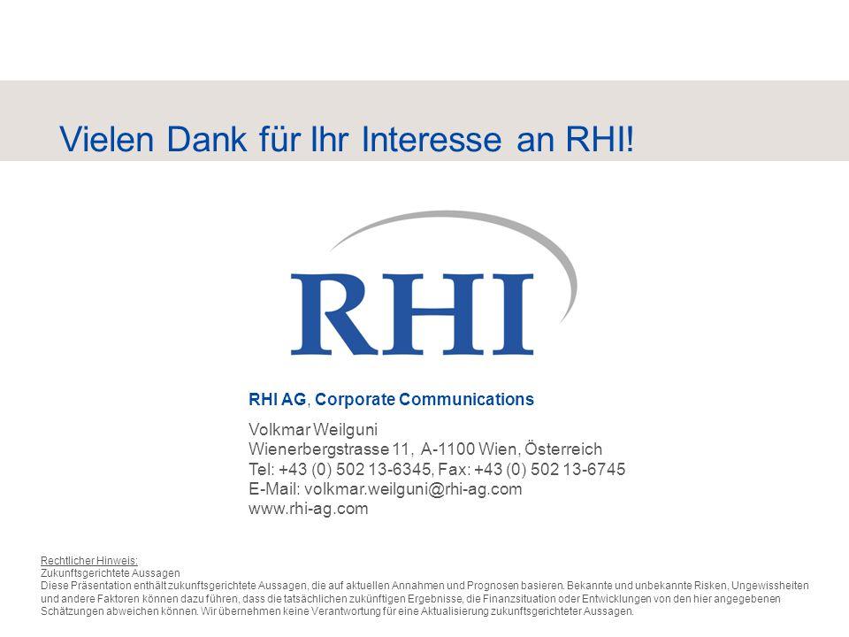 Vielen Dank für Ihr Interesse an RHI!