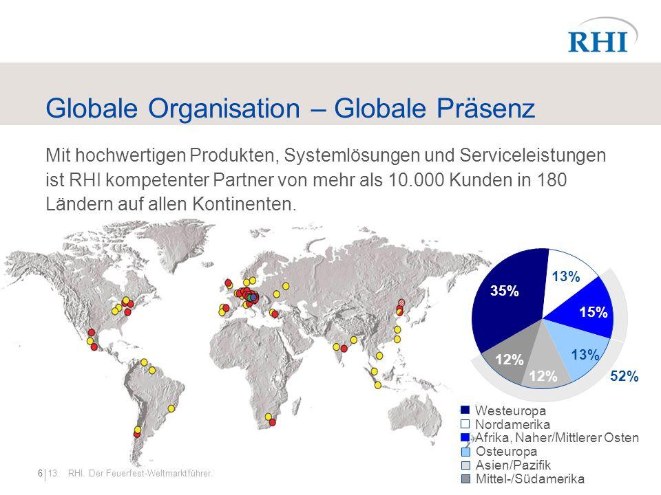 Globale Organisation – Globale Präsenz