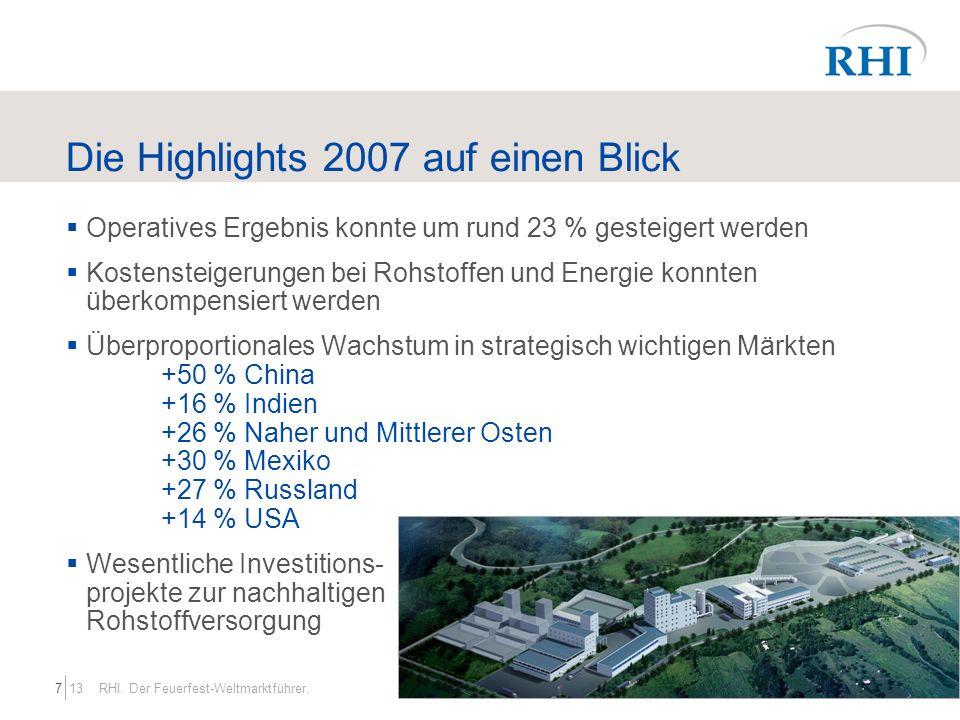 Die Highlights 2007 auf einen Blick