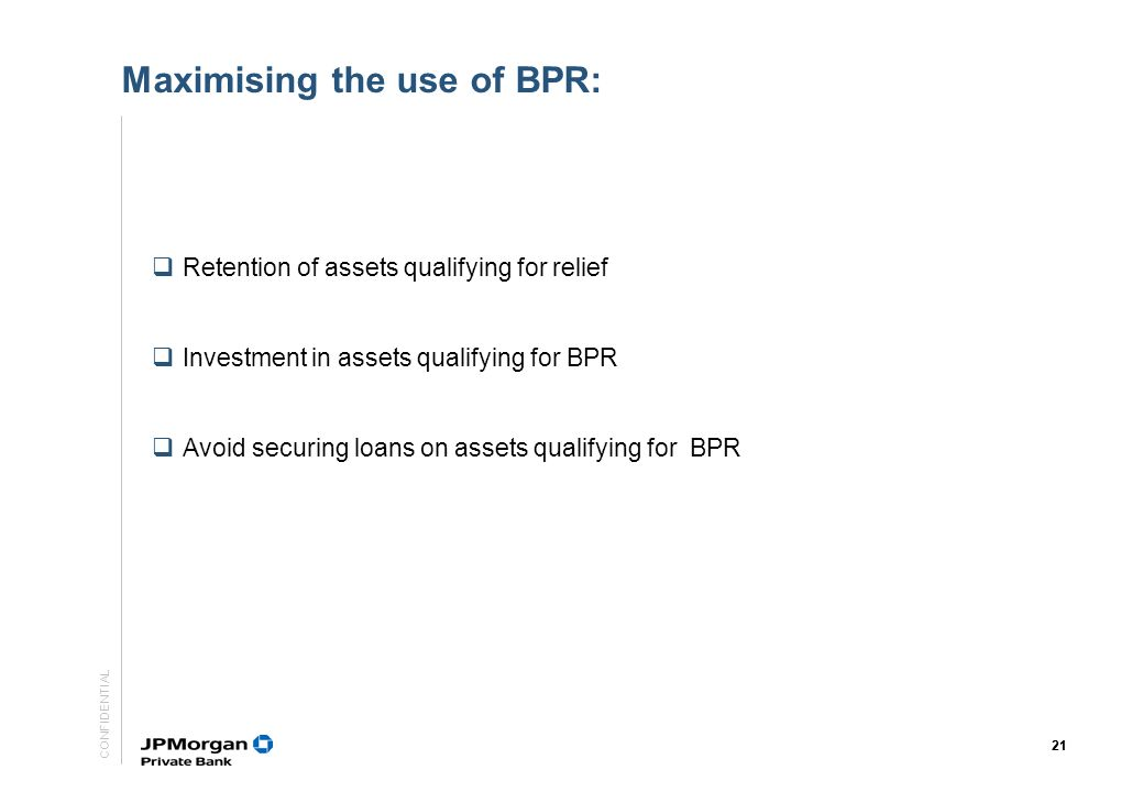 Maximising the use of BPR: