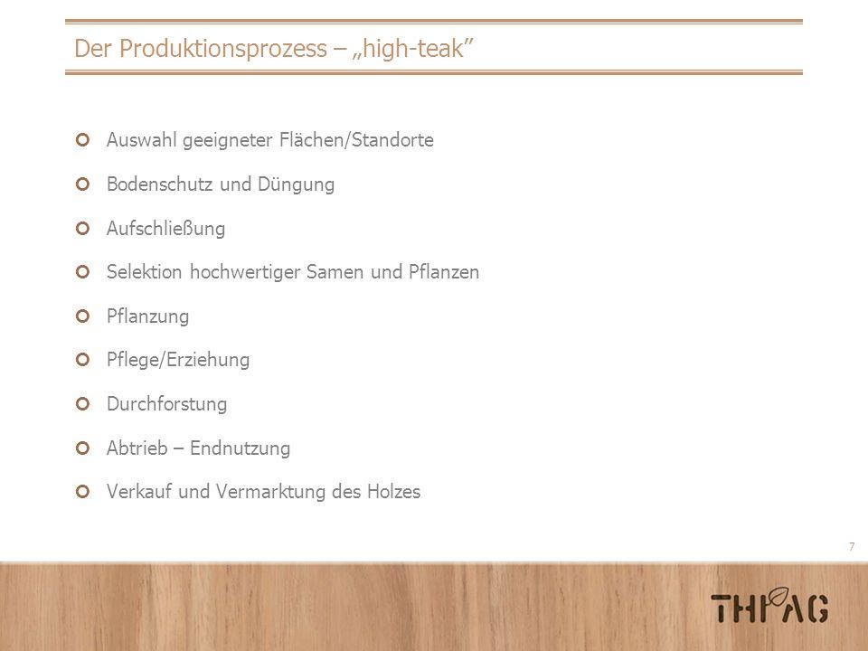 "Der Produktionsprozess – ""high-teak"