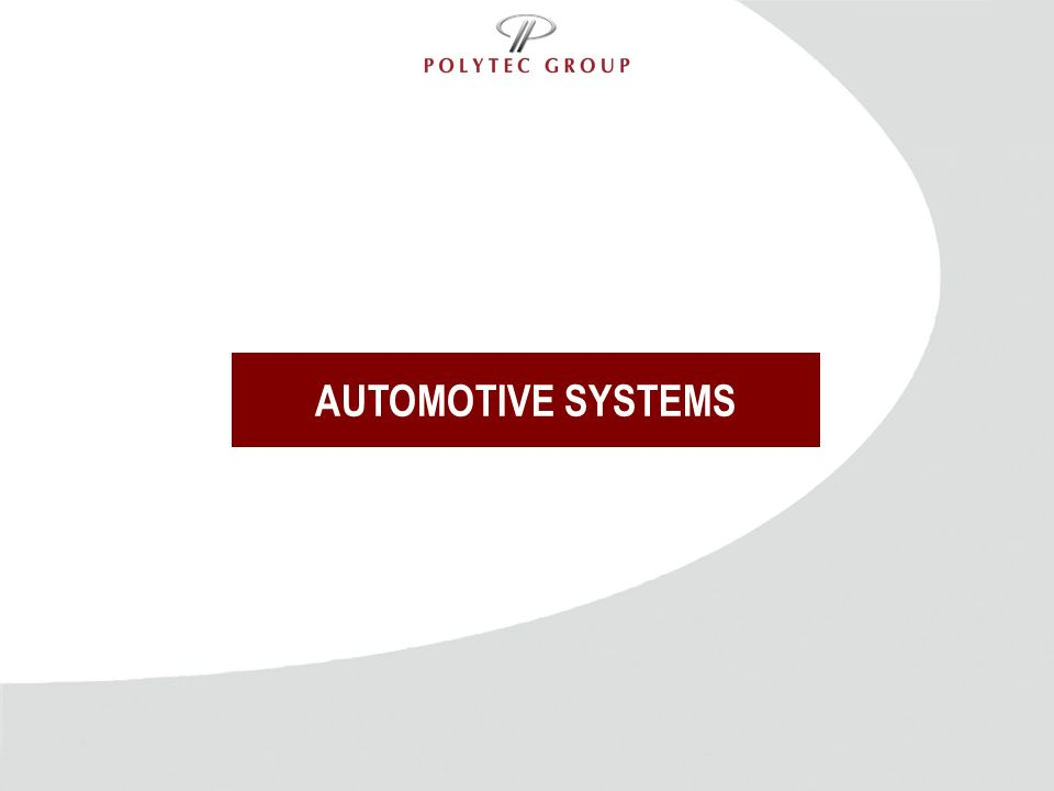 AUTOMOTIVE SYSTEMS Titel und Inhalt