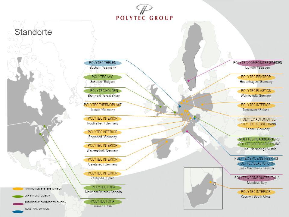 Standorte POLYTEC THELEN Bochum / Germany POLYTEC COMPOSITES SWEDEN