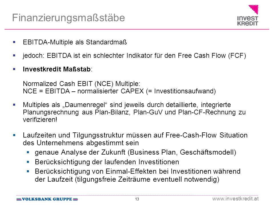 Finanzierungsmaßstäbe
