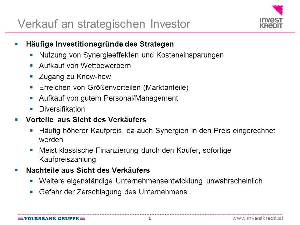 Verkauf an strategischen Investor