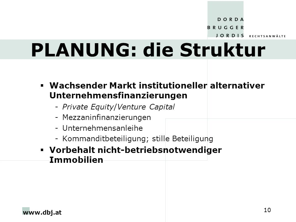 PLANUNG: die Struktur Wachsender Markt institutioneller alternativer Unternehmensfinanzierungen. Private Equity/Venture Capital.