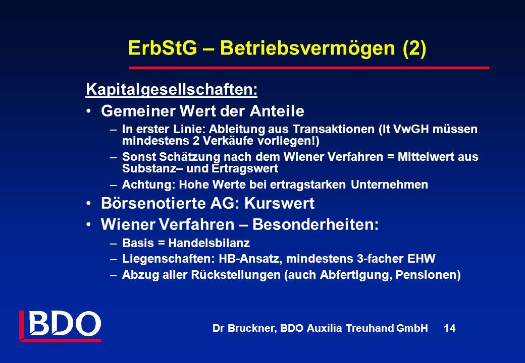ErbStG – Betriebsvermögen (2)