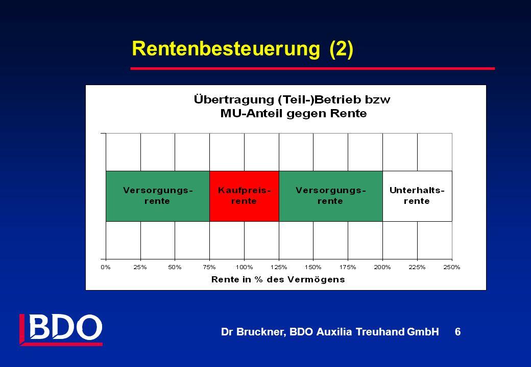 Rentenbesteuerung (2) First, PA Consulting.
