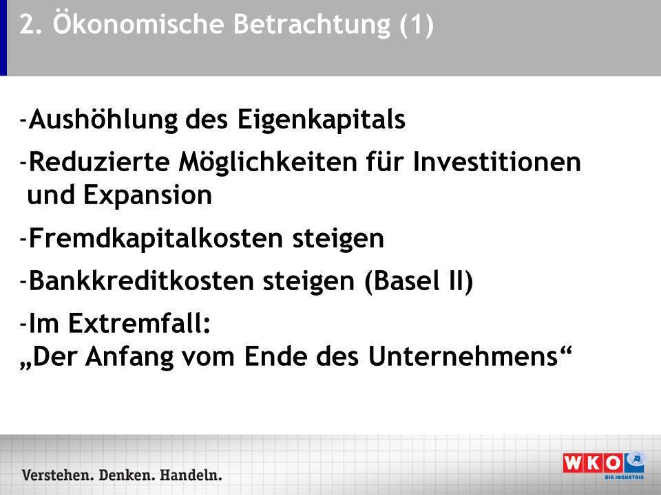 2. Ökonomische Betrachtung (1)