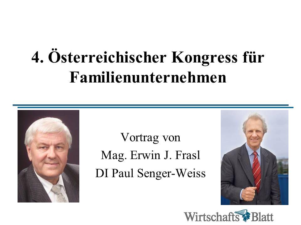 4. Österreichischer Kongress für Familienunternehmen