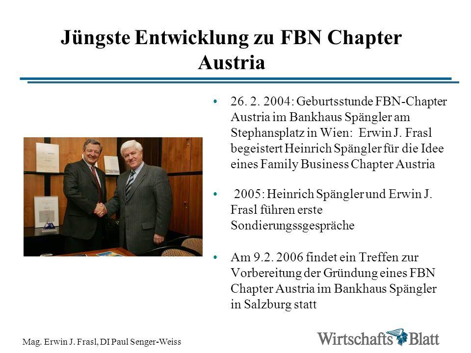 Jüngste Entwicklung zu FBN Chapter Austria