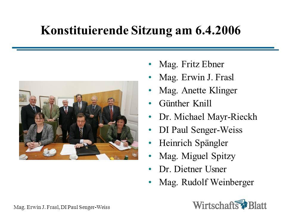 Konstituierende Sitzung am 6.4.2006
