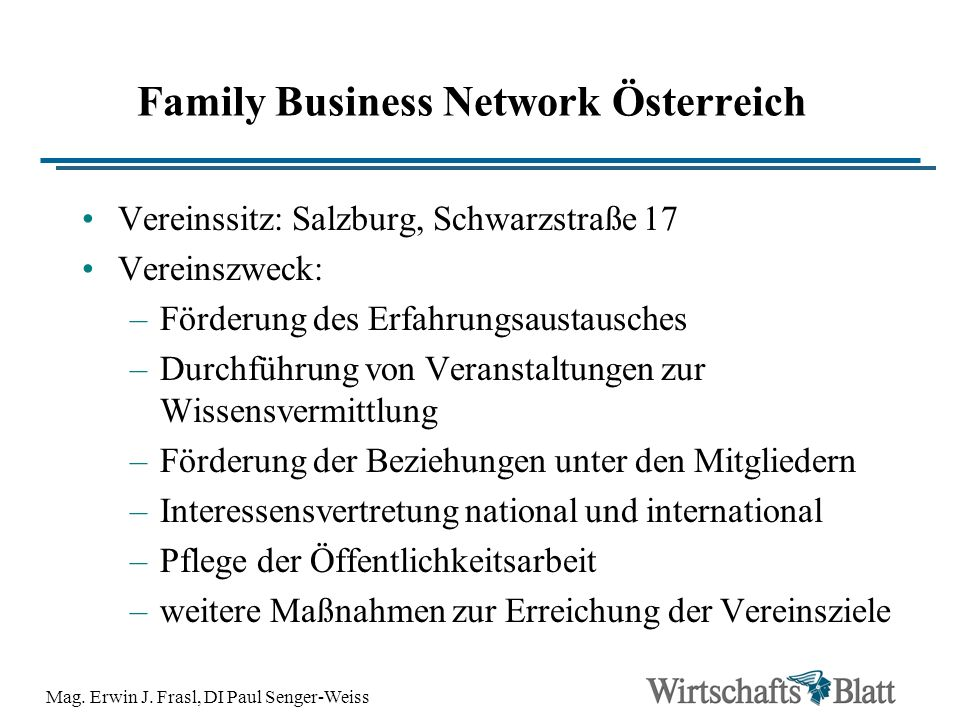 Family Business Network Österreich