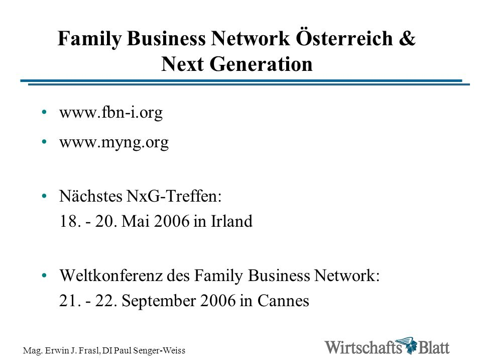 Family Business Network Österreich & Next Generation