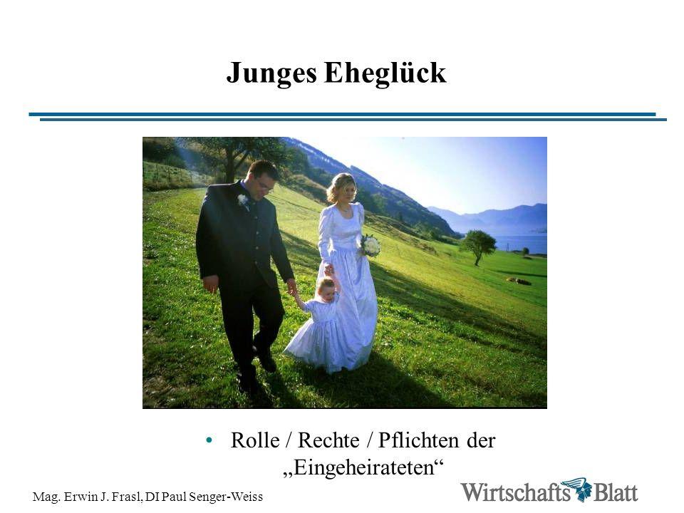"""Junges Eheglück Rolle / Rechte / Pflichten der """"Eingeheirateten"""
