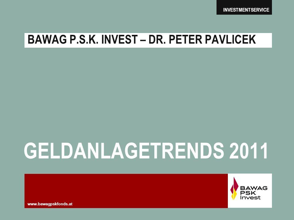 BAWAG P.S.K. INVEST – DR. PETER PAVLICEK