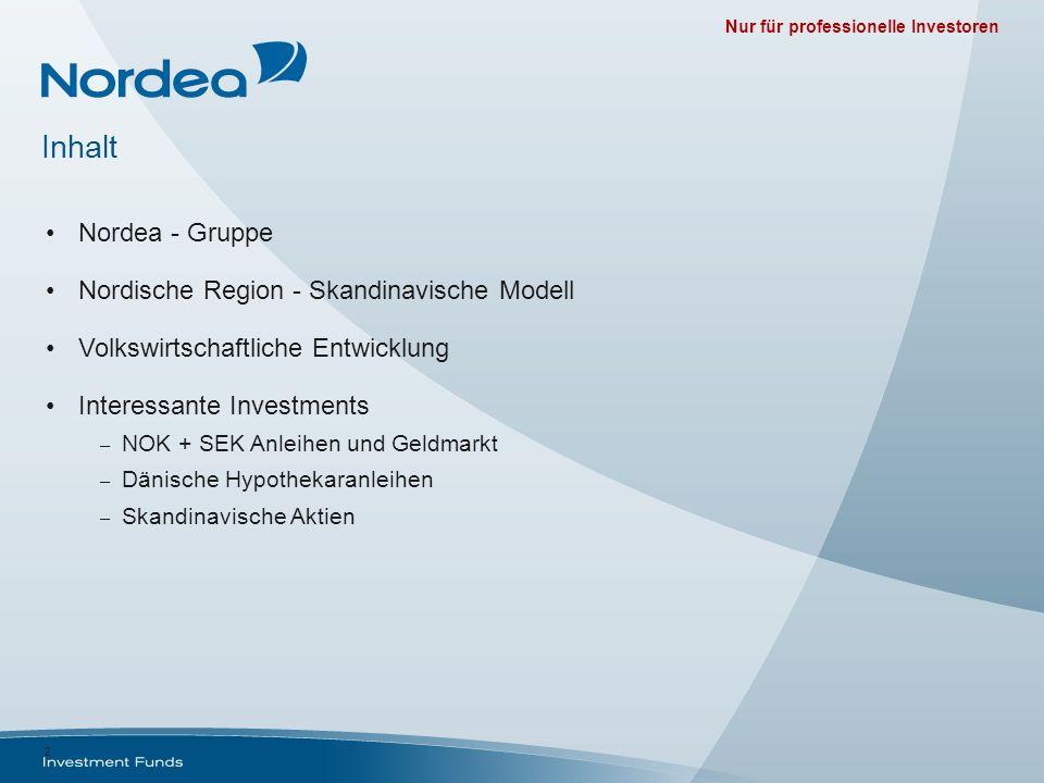 Inhalt Nordea - Gruppe Nordische Region - Skandinavische Modell