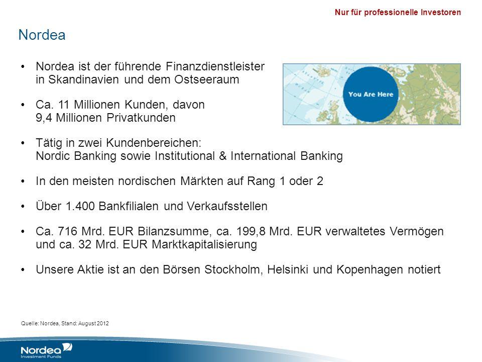 Nordea Nordea ist der führende Finanzdienstleister in Skandinavien und dem Ostseeraum.