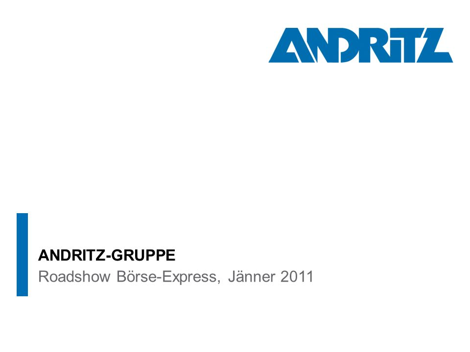 ANDRITZ-GRUPPE Roadshow Börse-Express, Jänner 2011