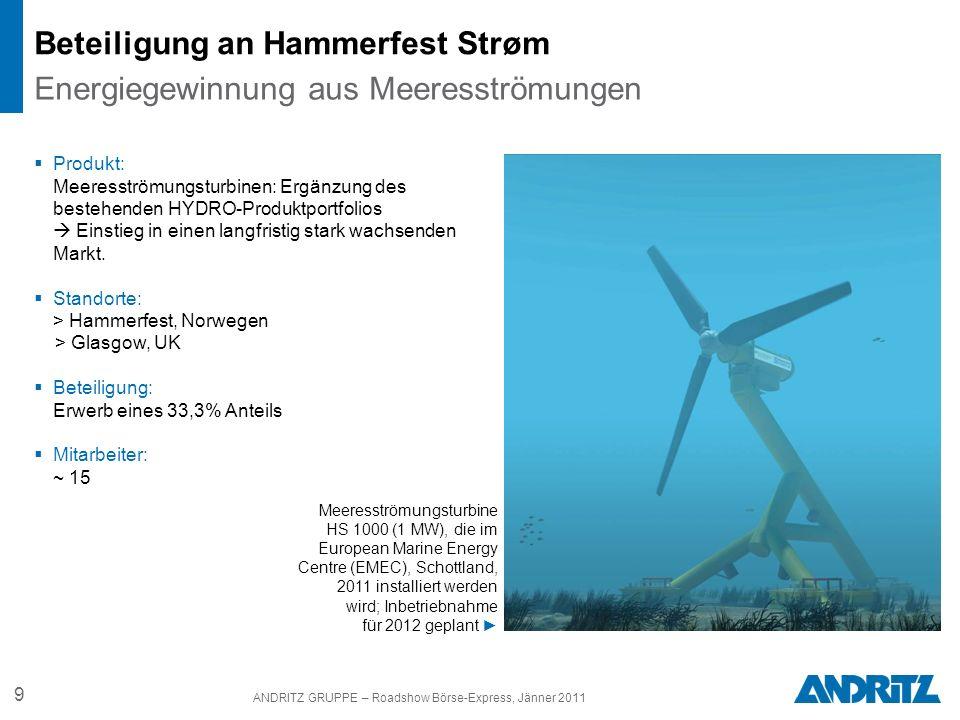 Beteiligung an Hammerfest Strøm