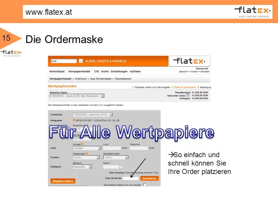 Für Alle Wertpapiere Die Ordermaske So einfach und schnell können Sie