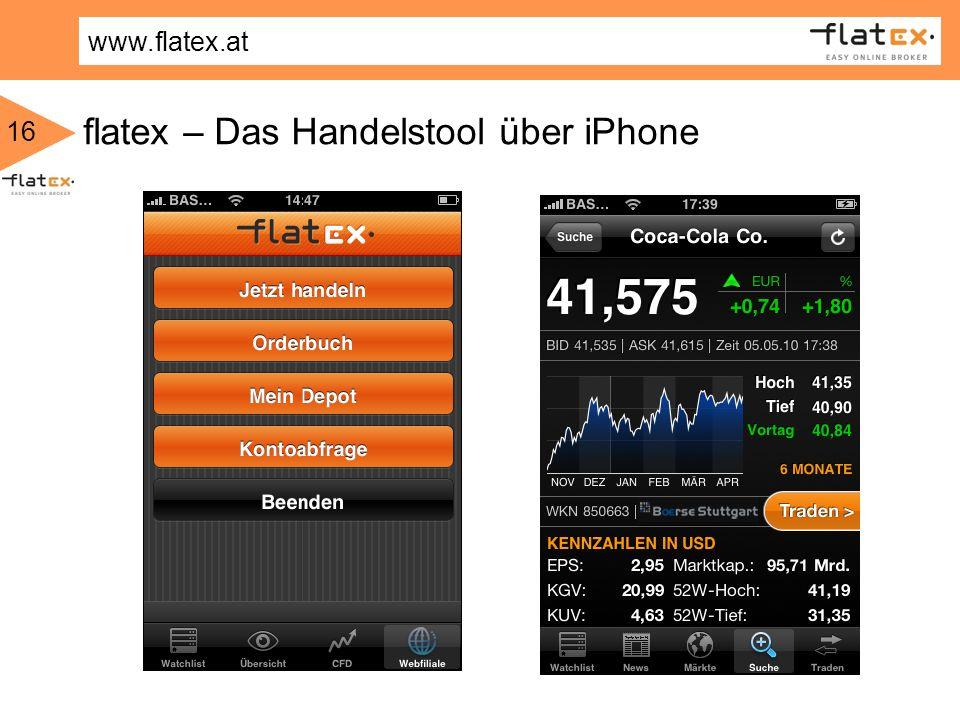 flatex – Das Handelstool über iPhone
