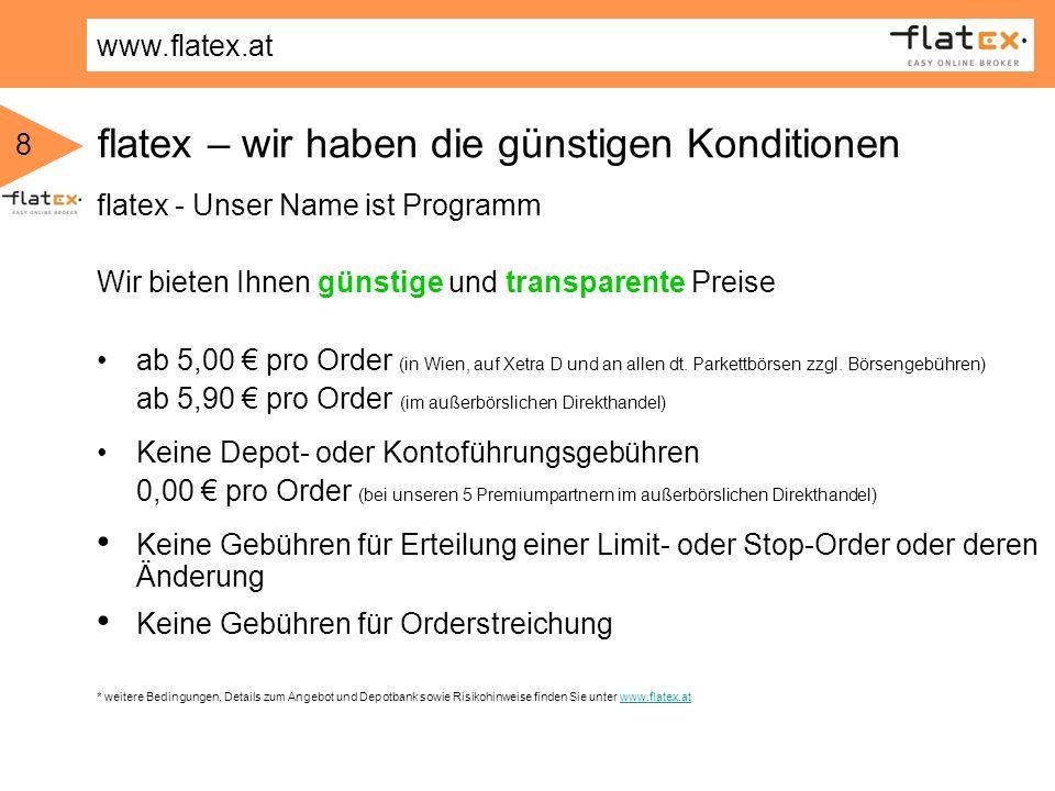 flatex – wir haben die günstigen Konditionen