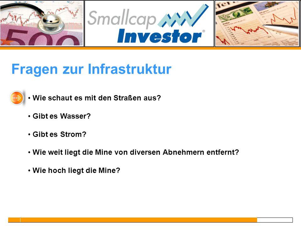 Fragen zur Infrastruktur