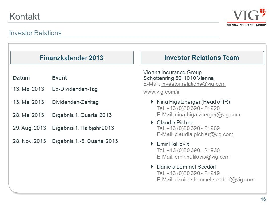 Investor Relations Team