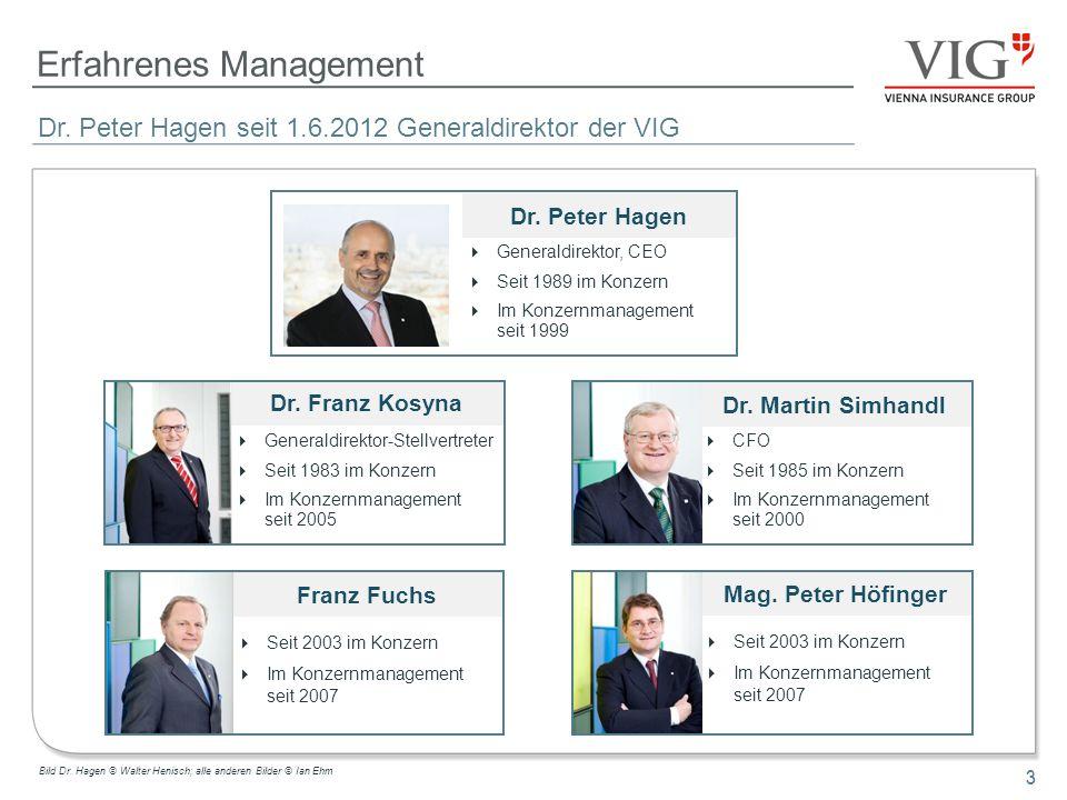 Erfahrenes Management