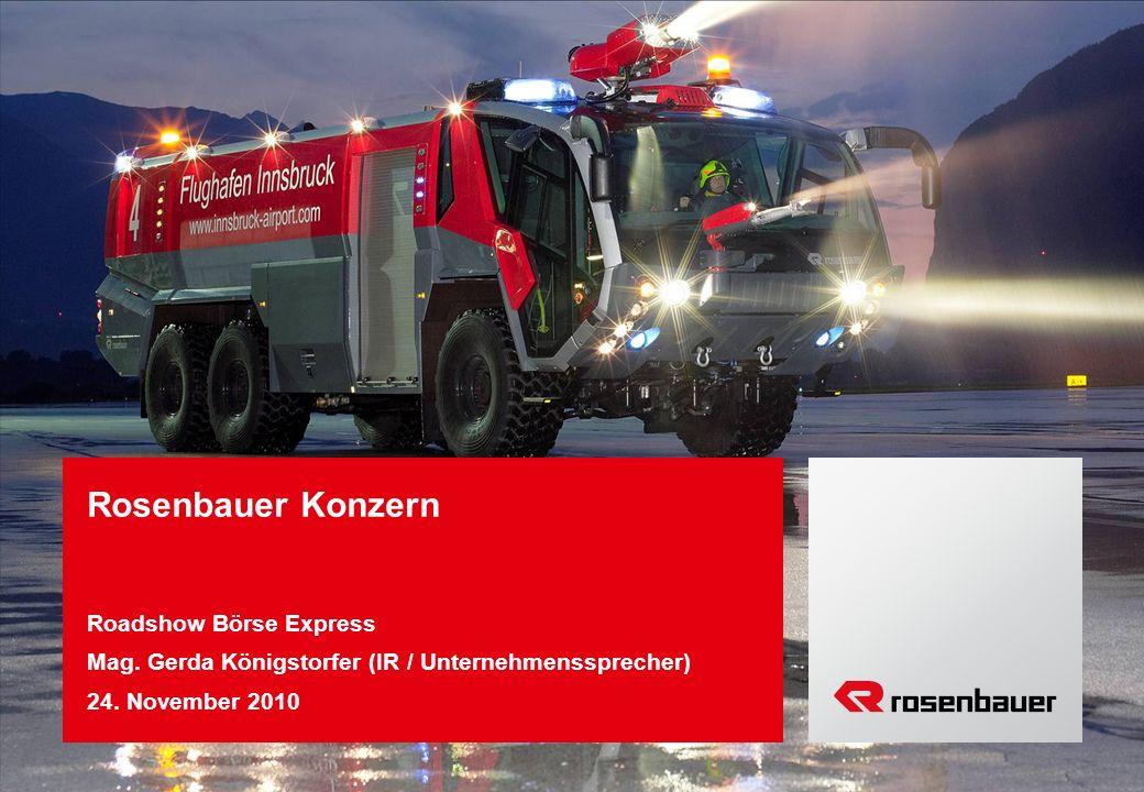 Rosenbauer Konzern Roadshow Börse Express