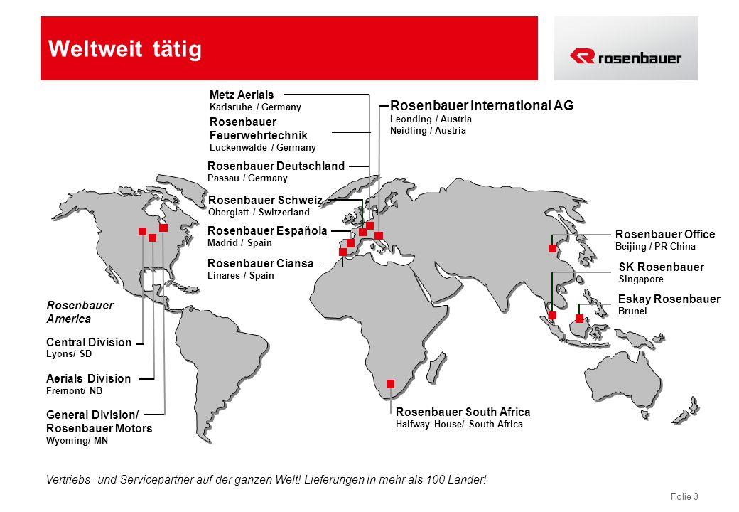 Weltweit tätig Rosenbauer International AG Metz Aerials Rosenbauer