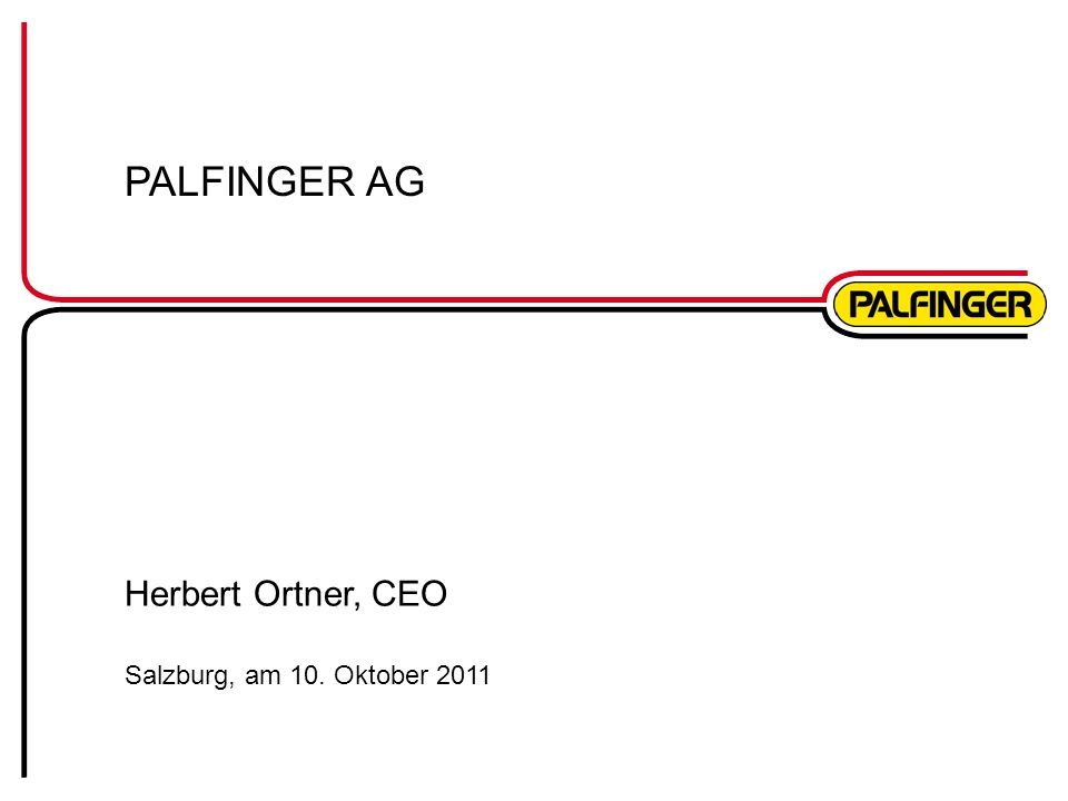 Herbert Ortner, CEO Salzburg, am 10. Oktober 2011