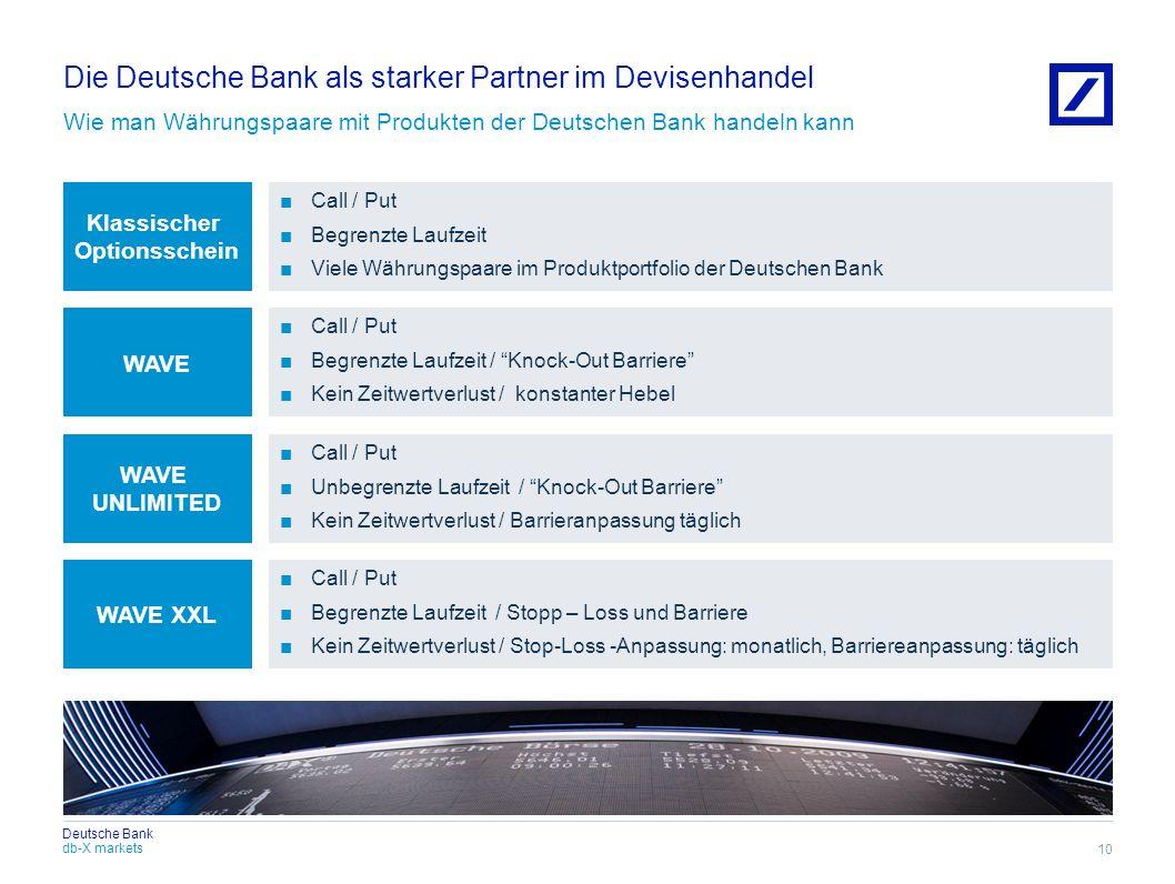 Die Deutsche Bank als starker Partner im Devisenhandel