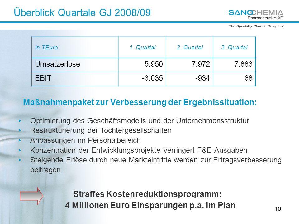Überblick Quartale GJ 2008/09