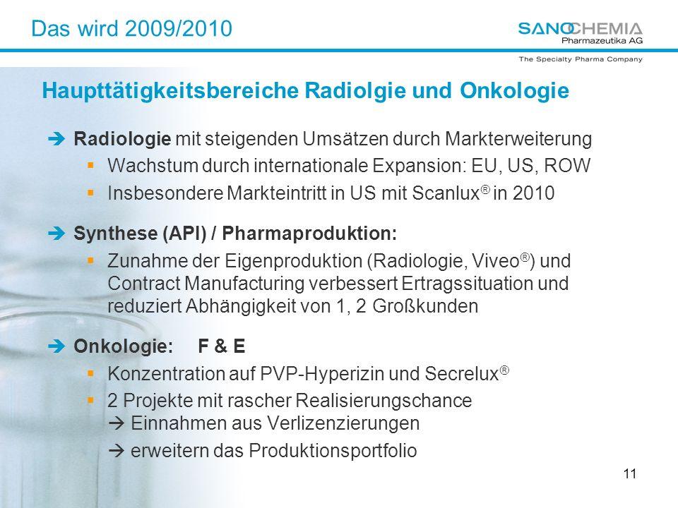 Haupttätigkeitsbereiche Radiolgie und Onkologie